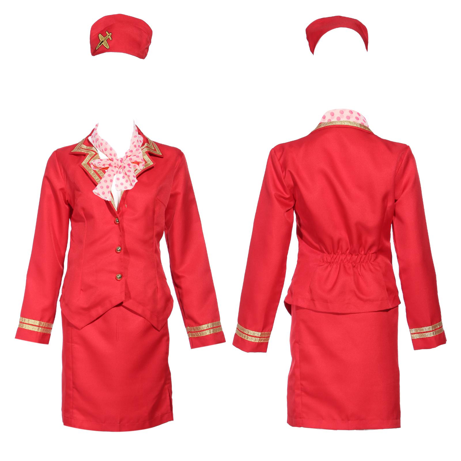 sexy uniform stewardess kost m mit m tze halstuch uniform. Black Bedroom Furniture Sets. Home Design Ideas