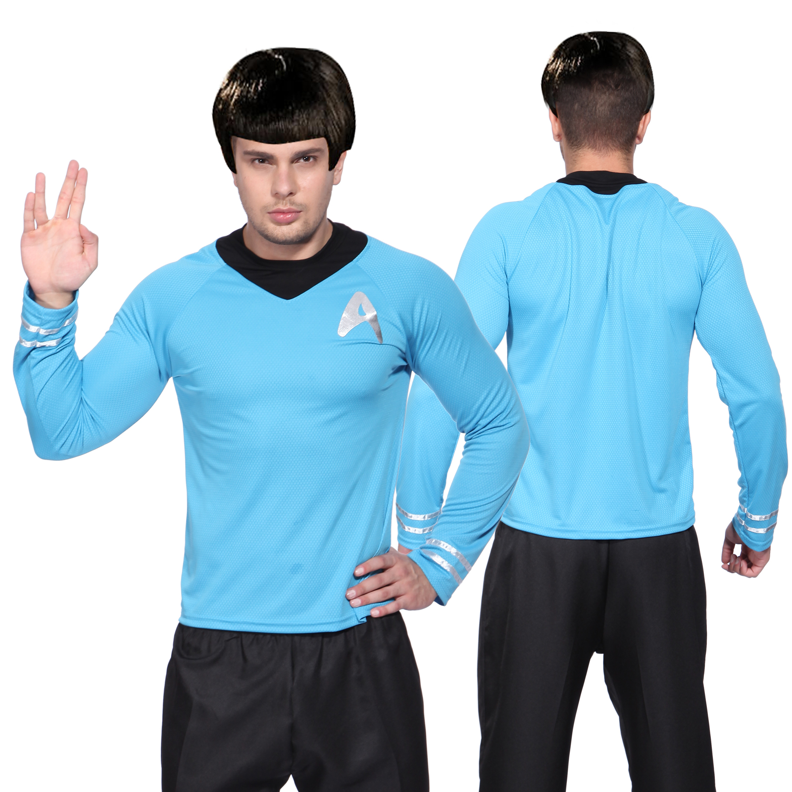 Mens Star Trek T-Shirt Top Blouse Captain Scotty Kirk Spock Sci Fi Fancy Dress | eBay  sc 1 st  eBay & Mens Star Trek T-Shirt Top Blouse Captain Scotty Kirk Spock Sci Fi ...