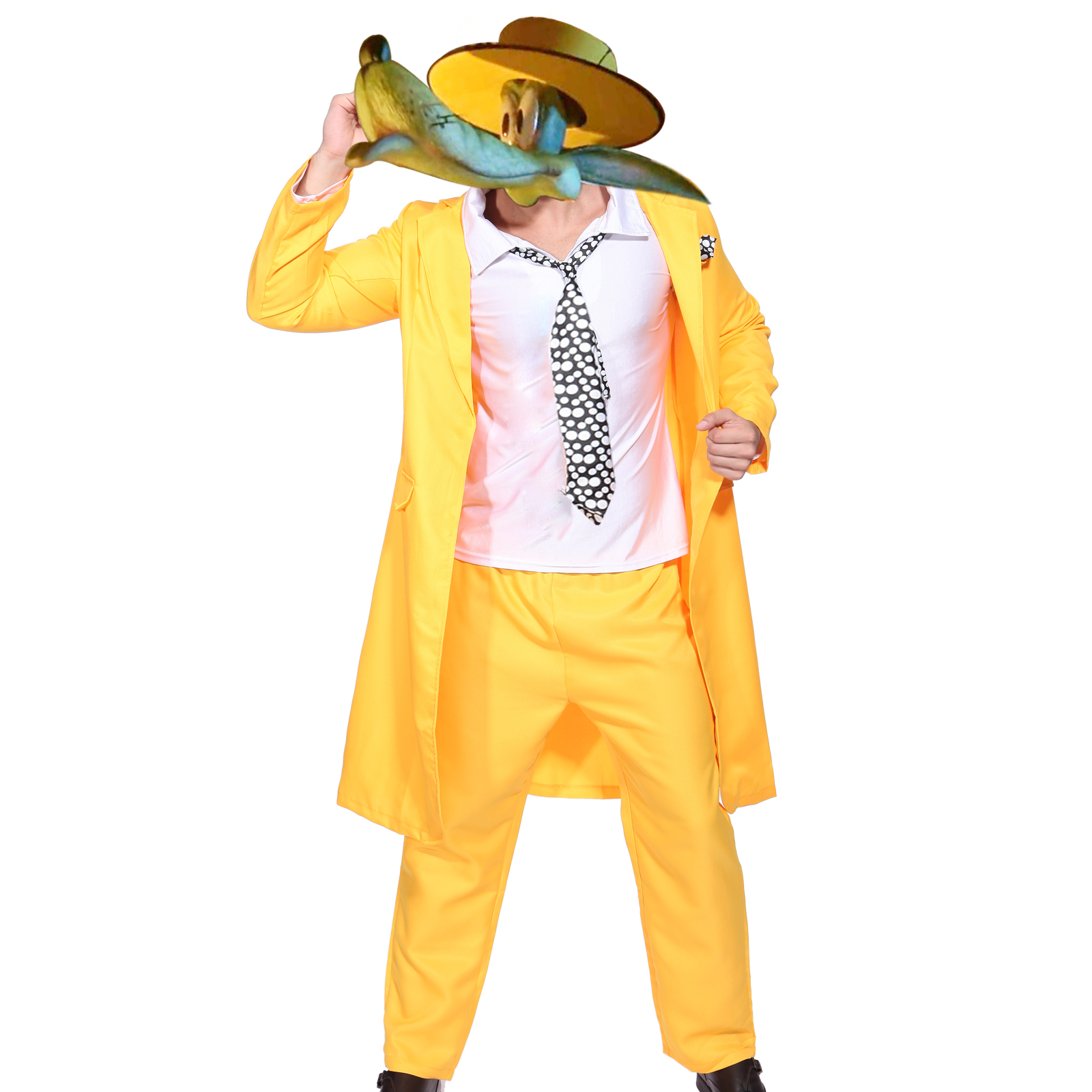 mens 90s yellow gangster zoot suit the mask jim carrey