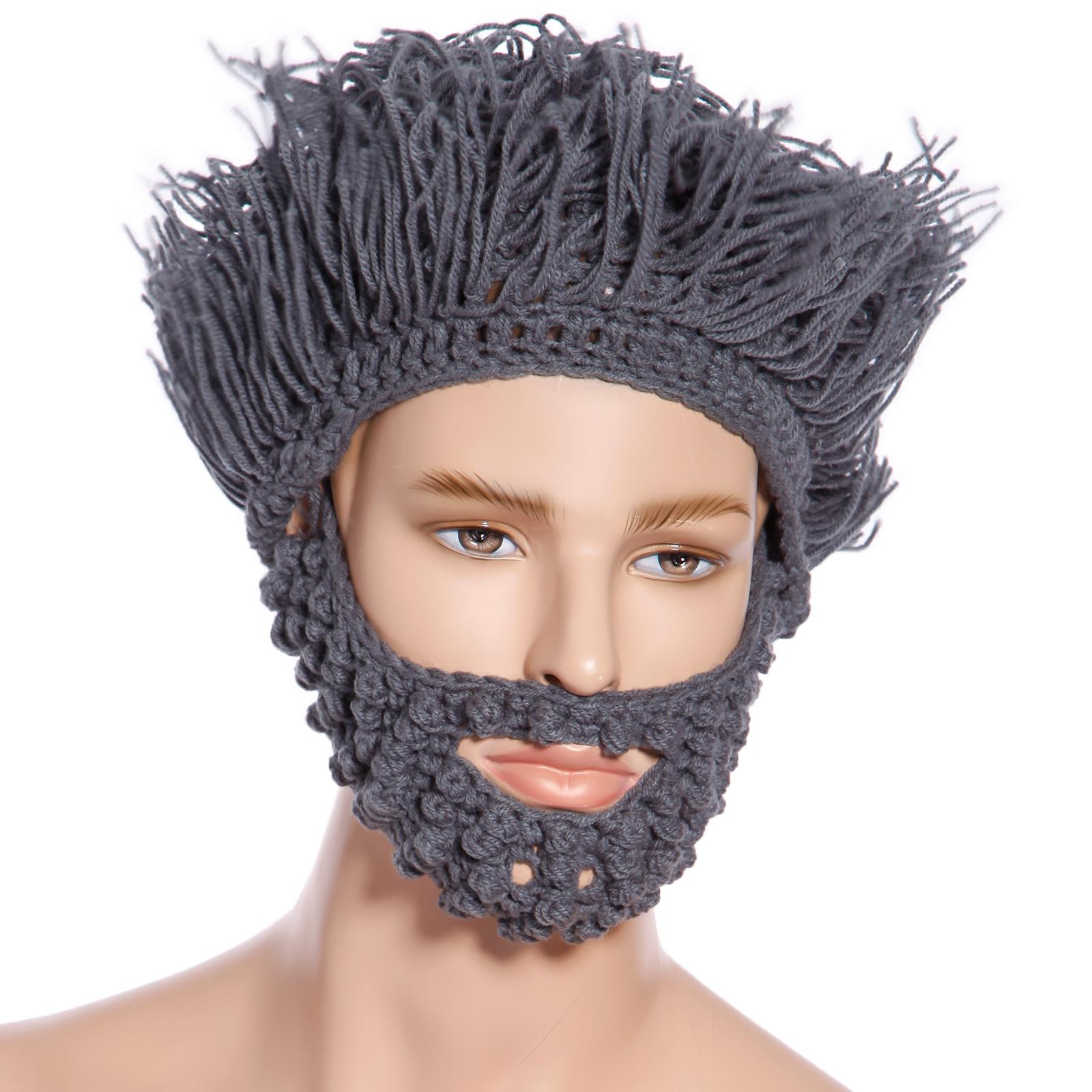 unisex m tze kappe strickm tze winterm tze mit maske per cke bart bartm tze ebay. Black Bedroom Furniture Sets. Home Design Ideas