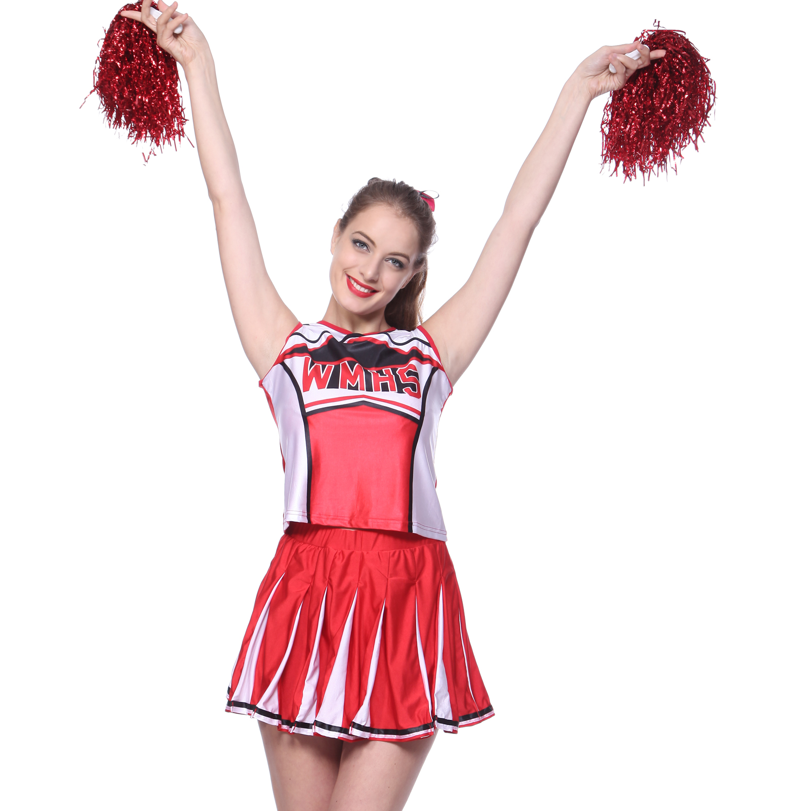 Picture 5 of 5  sc 1 st  eBay & Glee Club Style Cheerios Cheer Girl Costume Adult Cheerleader Outfit ...
