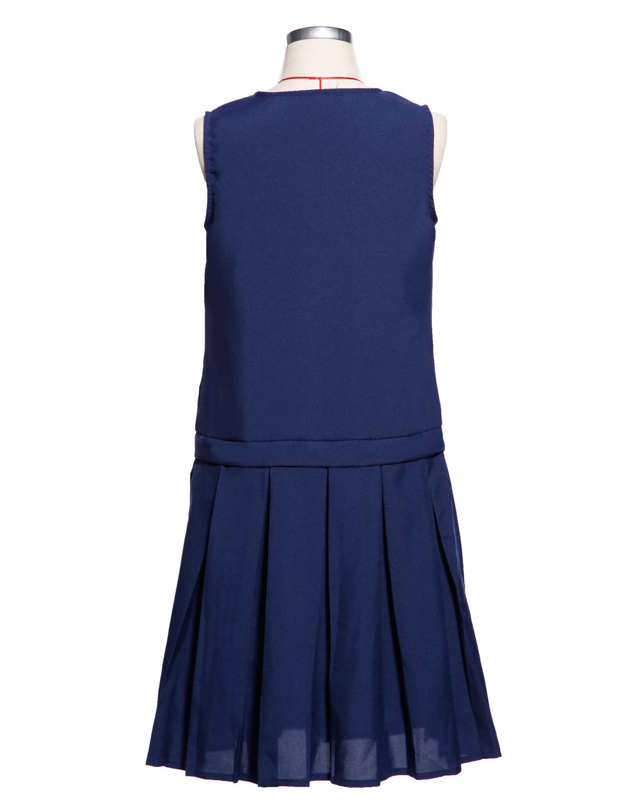 Girls School Uniform School Wear Sleeveless Zip Front