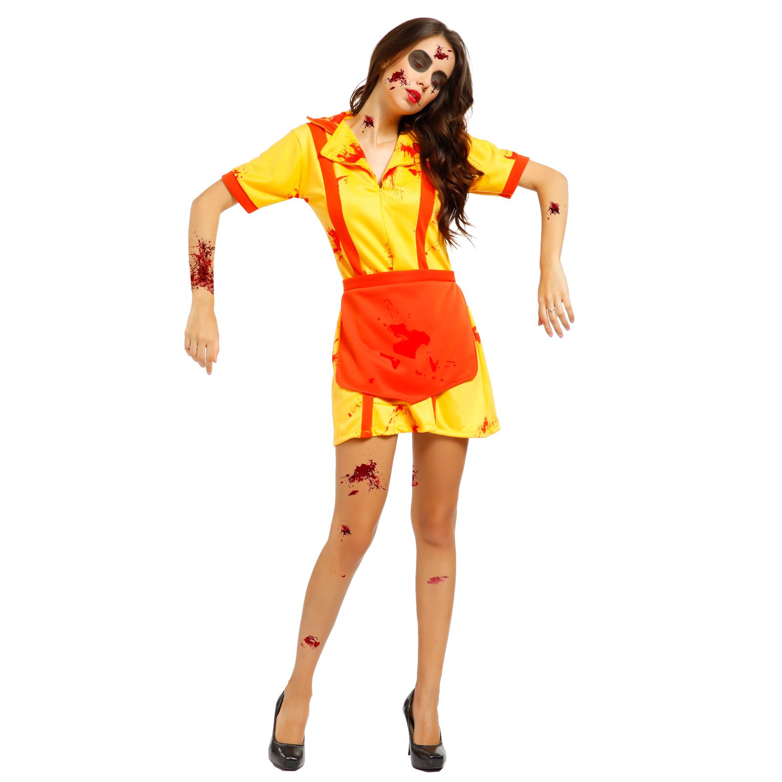 Halloween Damen Kostüm Zombie Cheerleader blutig Horror