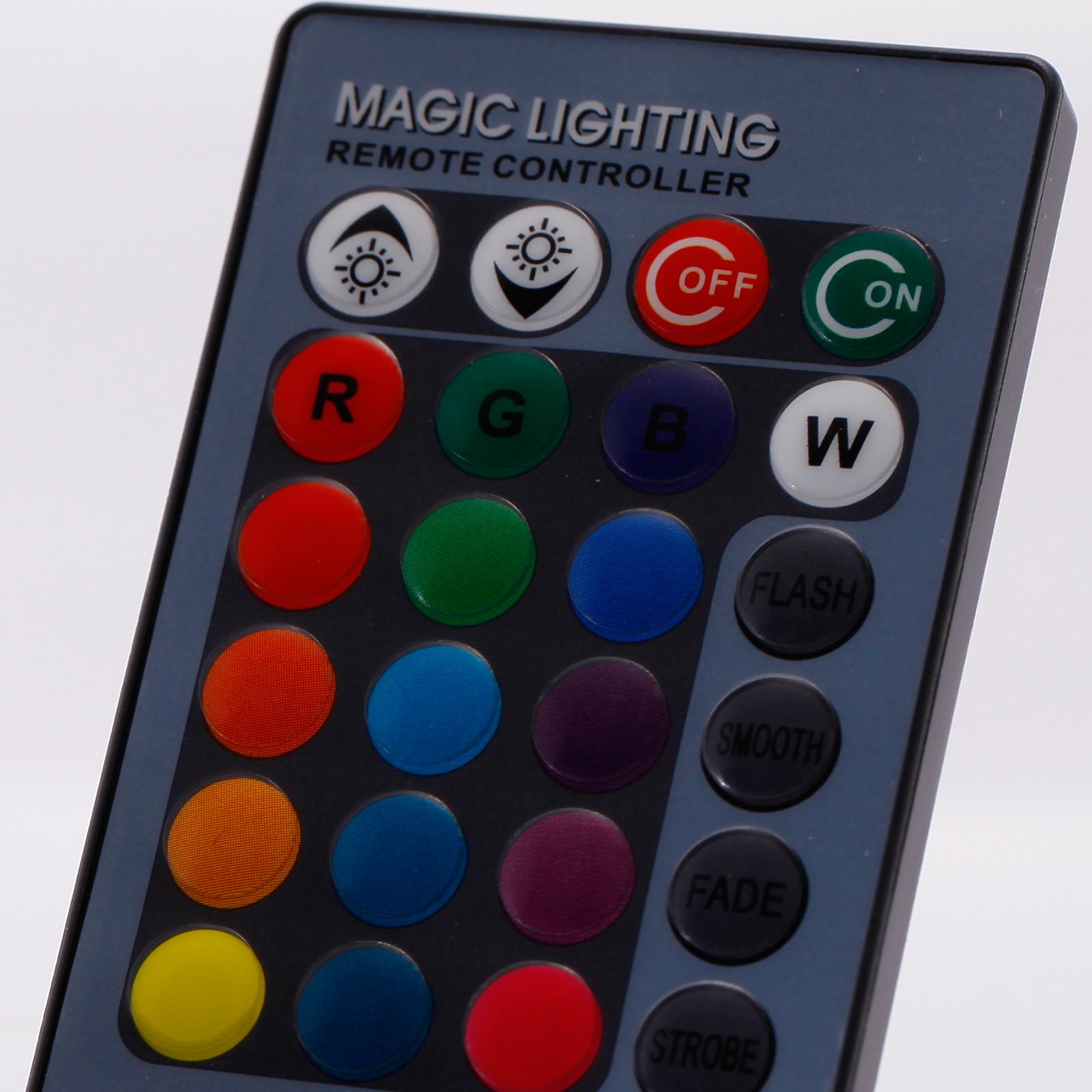 E27 lampada faretto led rgb luce multicolori con for Faretto led rgb