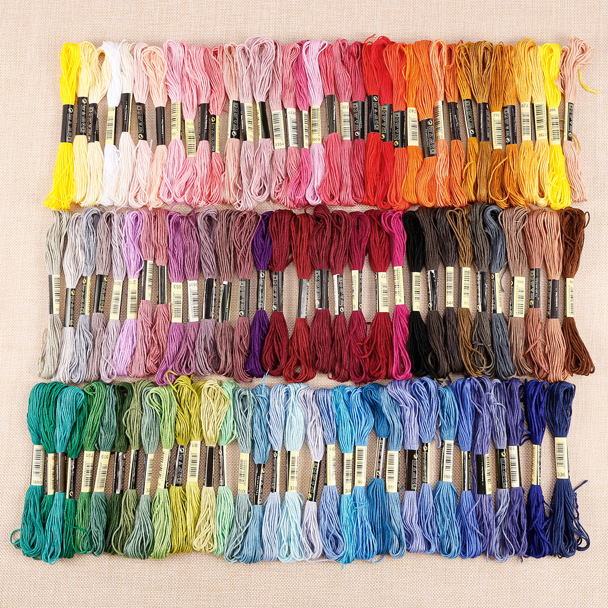 50-300-Color-Cross-Stitch-Thread-Embroidery-Floss-Sewing-Skeins-100-Cotton-Line thumbnail 14