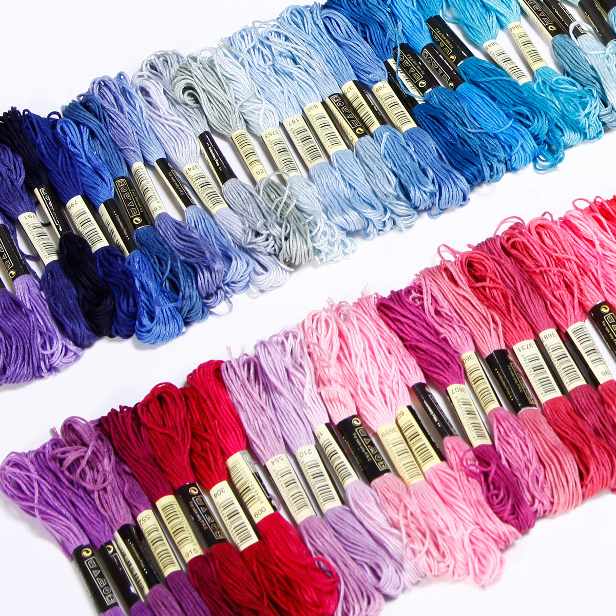 50-300-Color-Cross-Stitch-Thread-Embroidery-Floss-Sewing-Skeins-100-Cotton-Line thumbnail 12