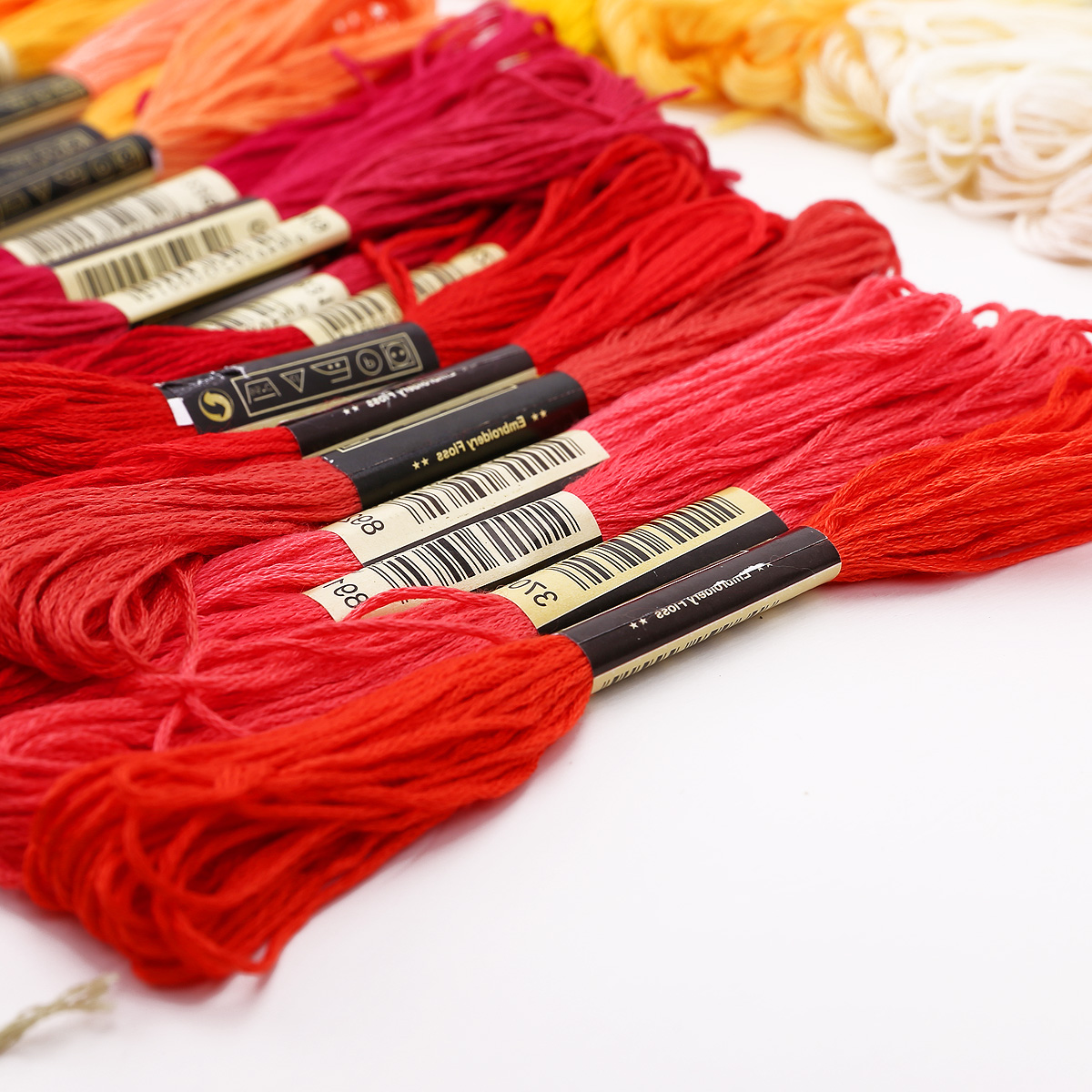 50-300-Color-Cross-Stitch-Thread-Embroidery-Floss-Sewing-Skeins-100-Cotton-Line thumbnail 6