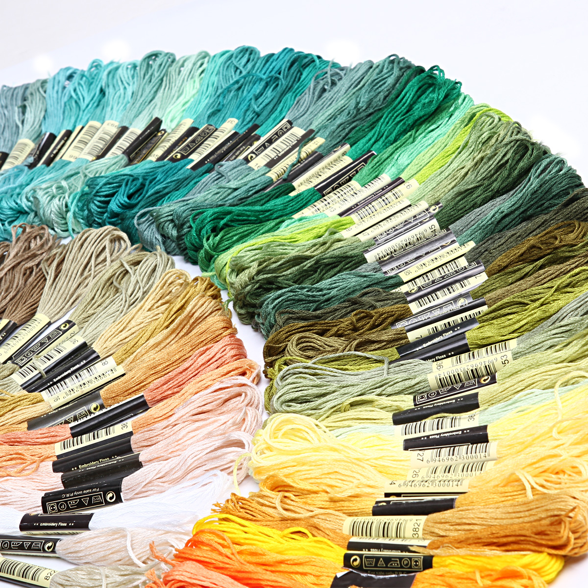 50-300-Color-Cross-Stitch-Thread-Embroidery-Floss-Sewing-Skeins-100-Cotton-Line thumbnail 4