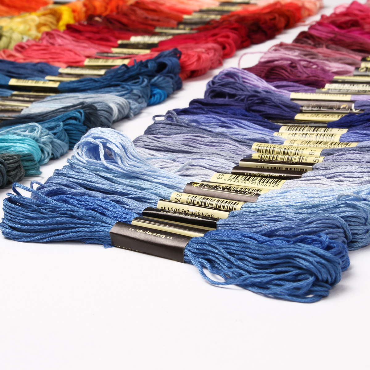 50-300-Color-Cross-Stitch-Thread-Embroidery-Floss-Sewing-Skeins-100-Cotton-Line thumbnail 2