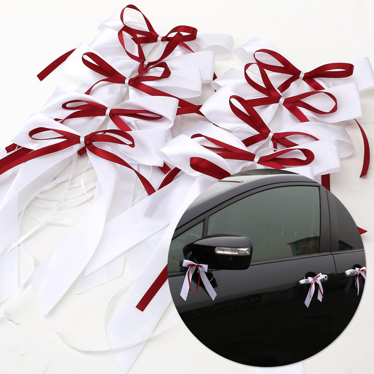 10 noeud papillon ruban satin voiture salle mariage soir e. Black Bedroom Furniture Sets. Home Design Ideas