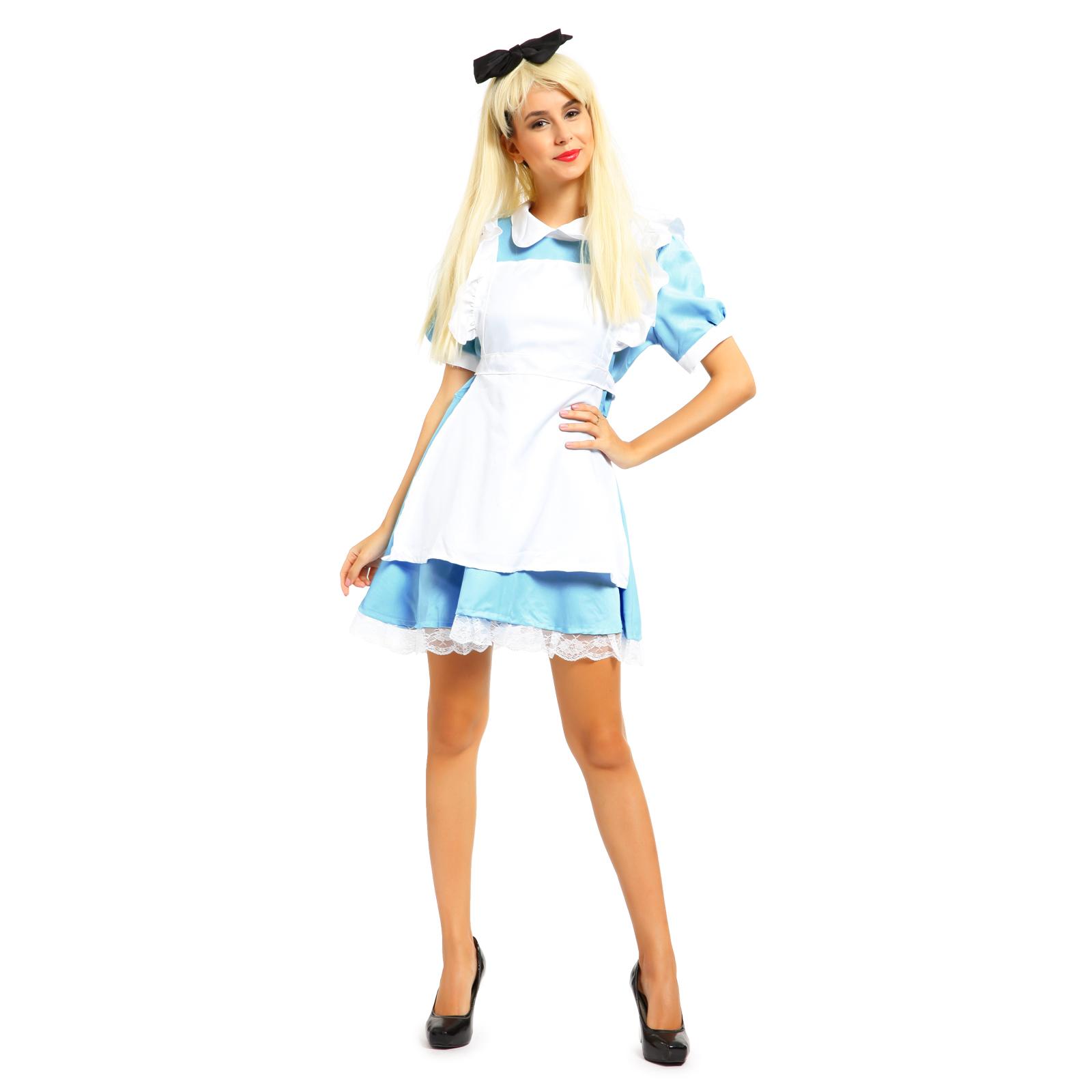 Ladies Alice in Wonderland Costume Book Week Fancy Dress Halloween Hens Party