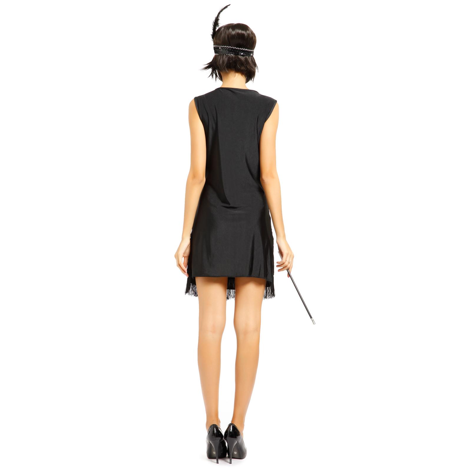 deguisement costume tenue robe a frange bandeau flume. Black Bedroom Furniture Sets. Home Design Ideas