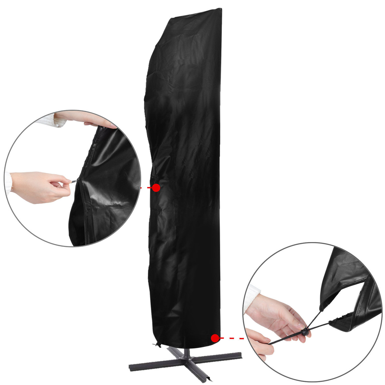 ampelschirm schutzh lle abdeckung plane schutzhaube h lle f r sonnenschirm 5m ebay. Black Bedroom Furniture Sets. Home Design Ideas