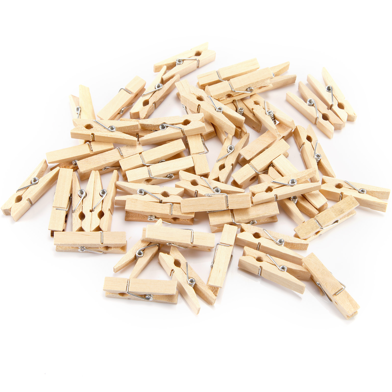 Holz mini clip w scheklammern 3 5cm klammer bastelklammern holzklammer ebay - Wascheklammern dekorieren ...