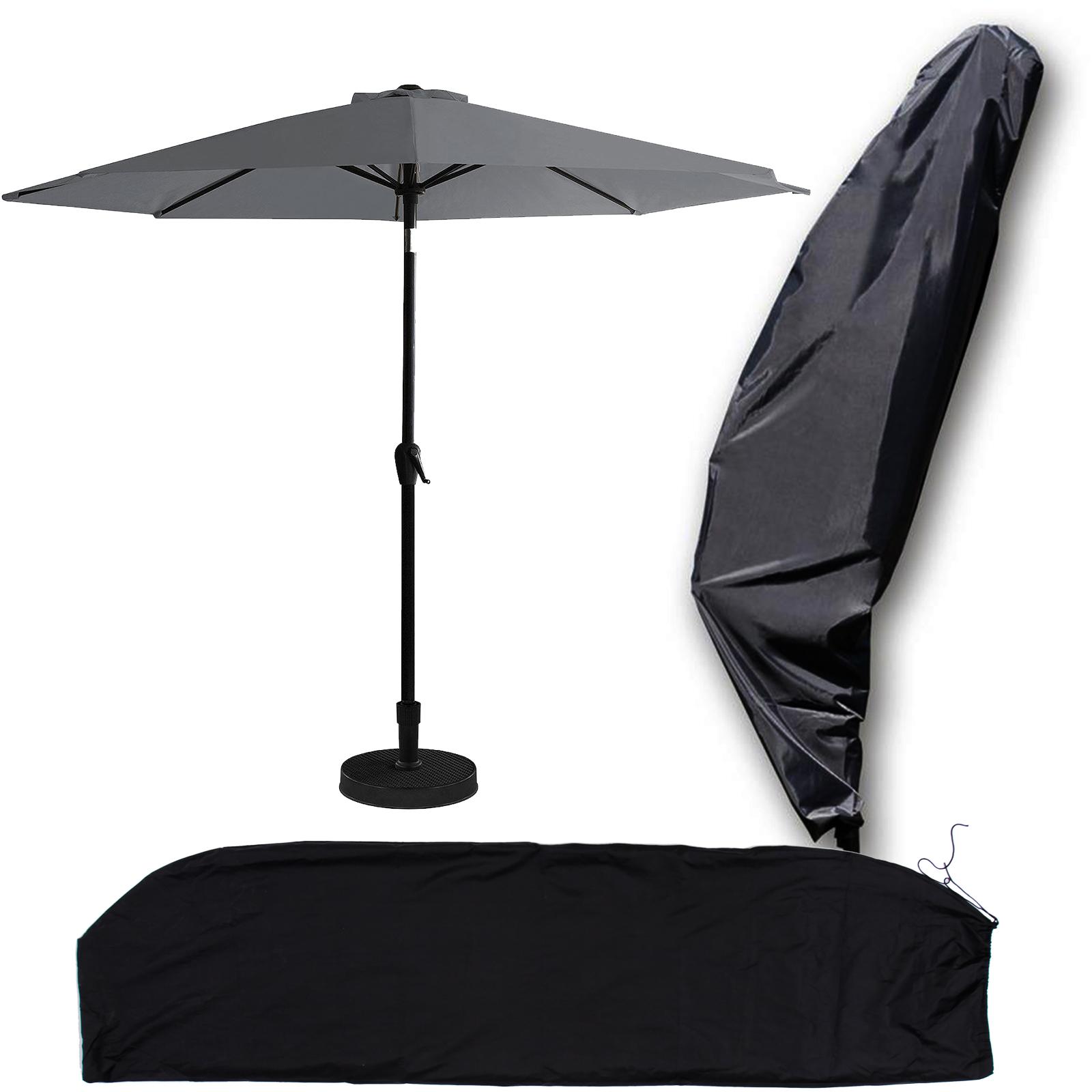 420d ampelschirm schutzh lle abdeckung plane uv schutz f sonnenschirm bis 3 5m ebay. Black Bedroom Furniture Sets. Home Design Ideas