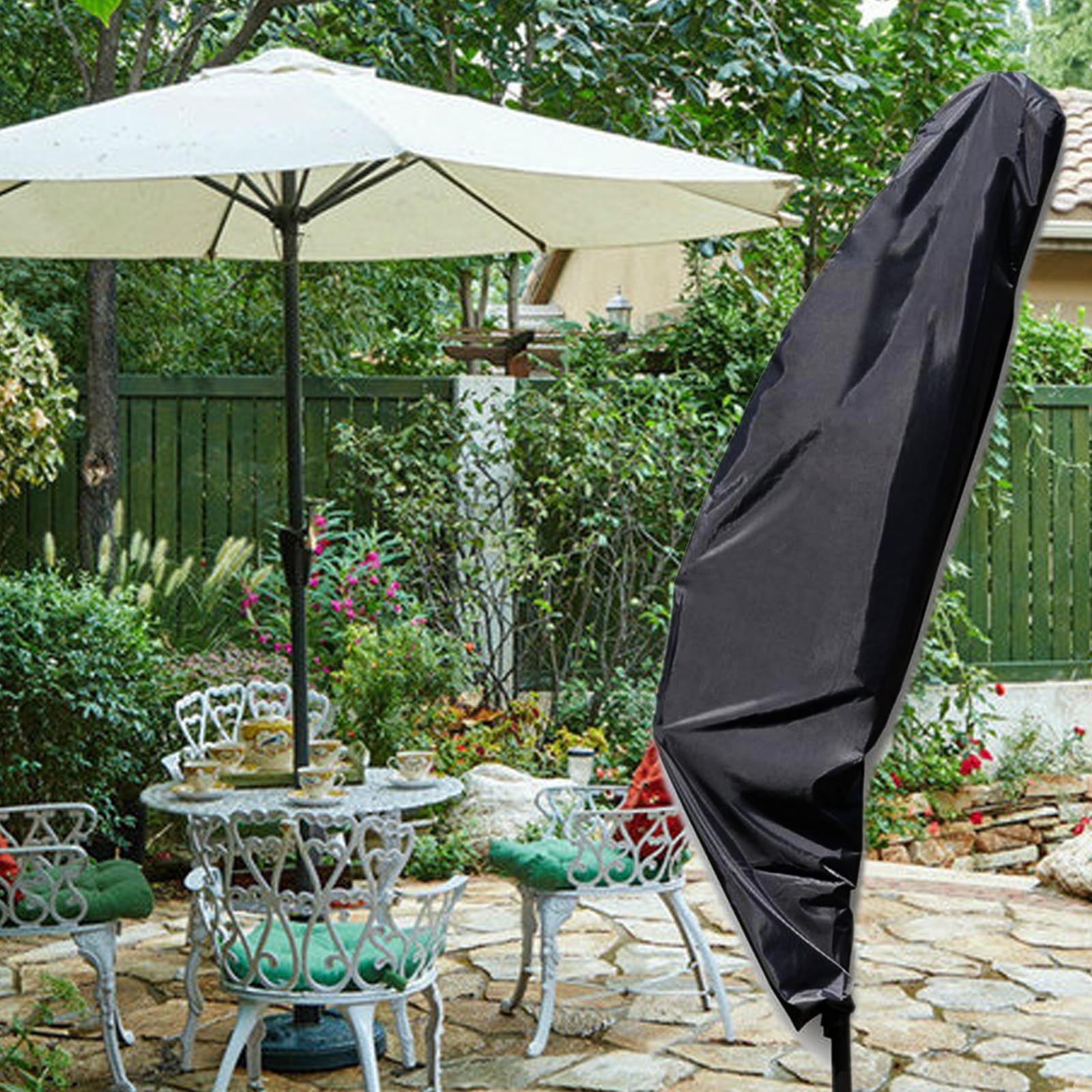 schwarz schutzh lle f r sonnenschirm ampelschirm h lle schirmh lle abdeckhaube ebay. Black Bedroom Furniture Sets. Home Design Ideas