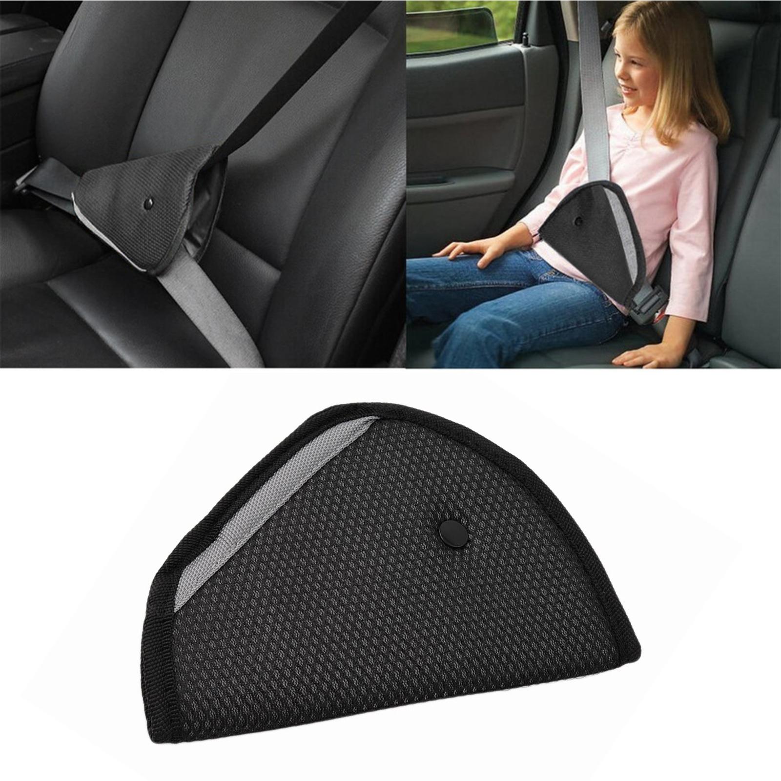 Black Triangle Baby Kid Car Safe Fit Seat Belt Adjuster Safety Harness