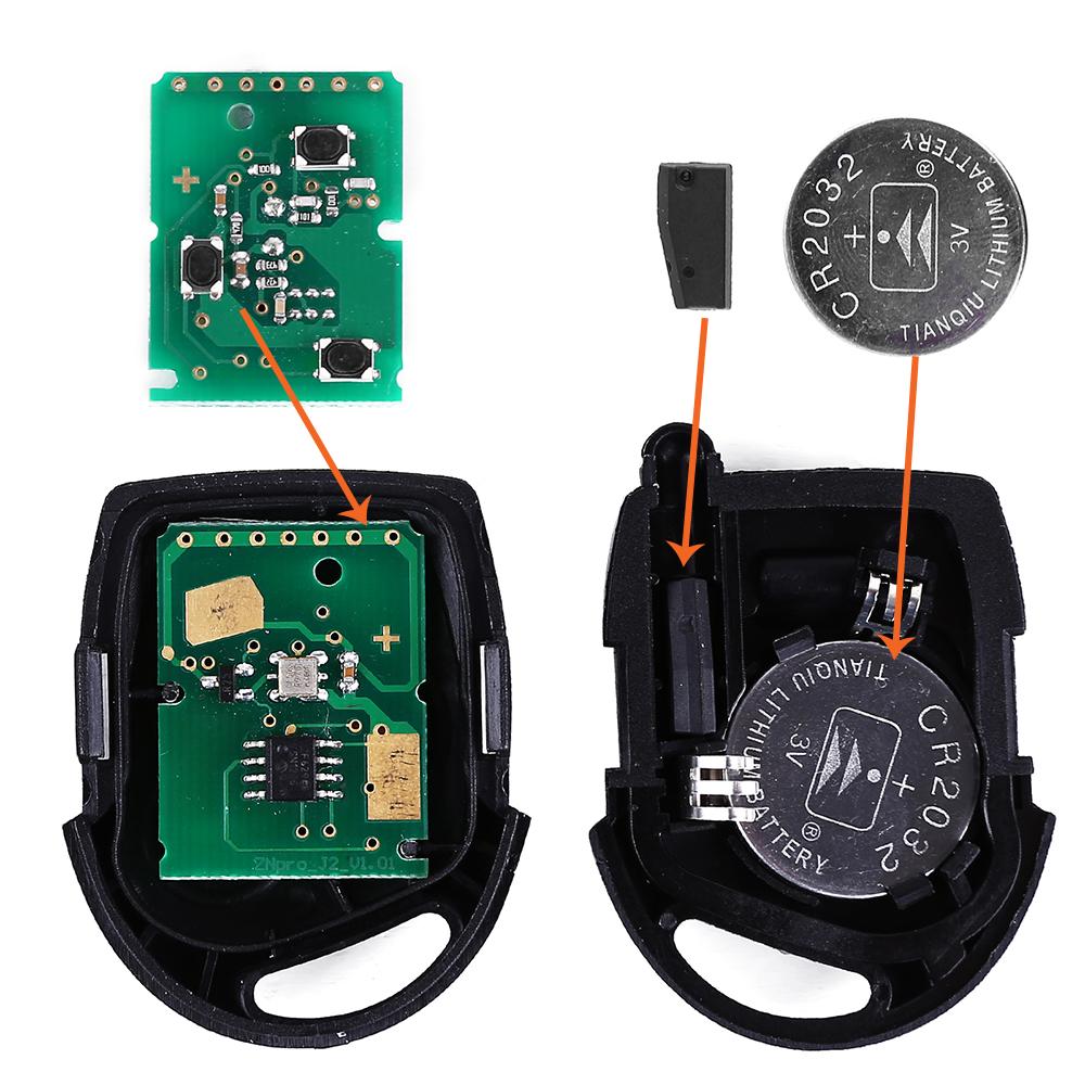 schl ssel fernbedienung mit elektronik transponder f r. Black Bedroom Furniture Sets. Home Design Ideas