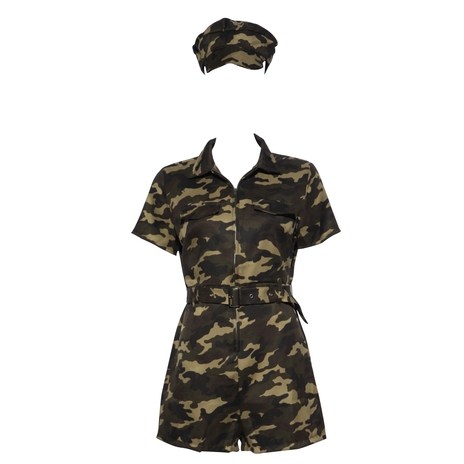 army armee tarnmuster damen kost m overall milit r jumpsuit karneval outfit ebay. Black Bedroom Furniture Sets. Home Design Ideas