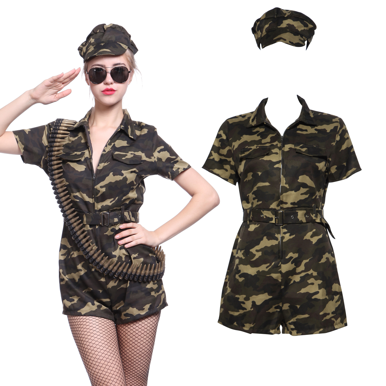 usa armee damen kost m tarnfarbe milit r camouflage uniform hosenanzug cosplay ebay. Black Bedroom Furniture Sets. Home Design Ideas