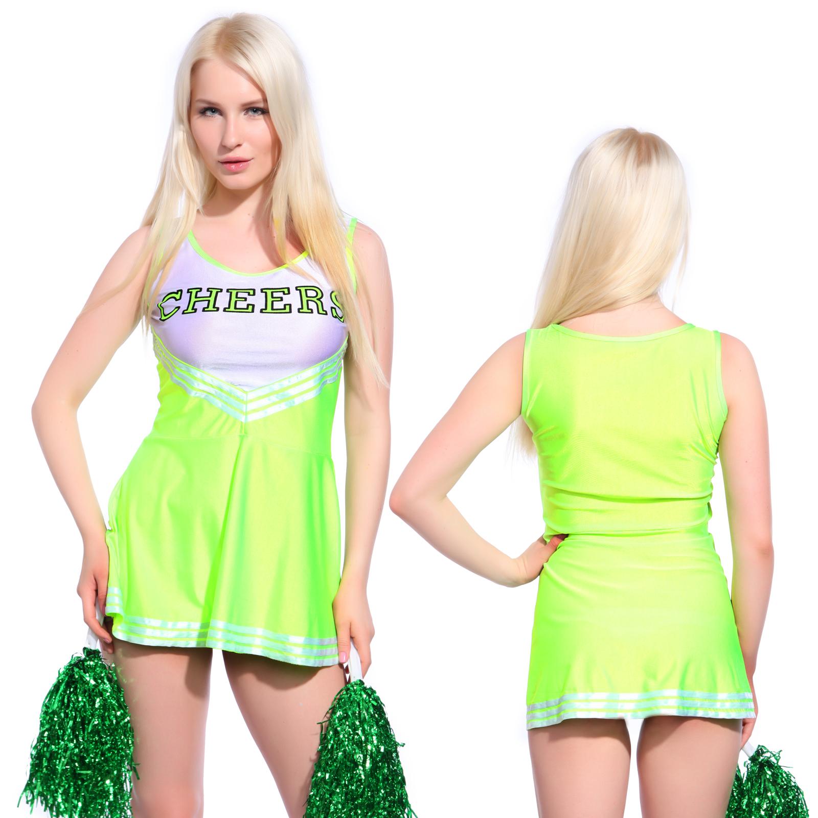 m dchen cheerleader kost m uniform cheerleading cheer leader kost m verkleidung ebay. Black Bedroom Furniture Sets. Home Design Ideas