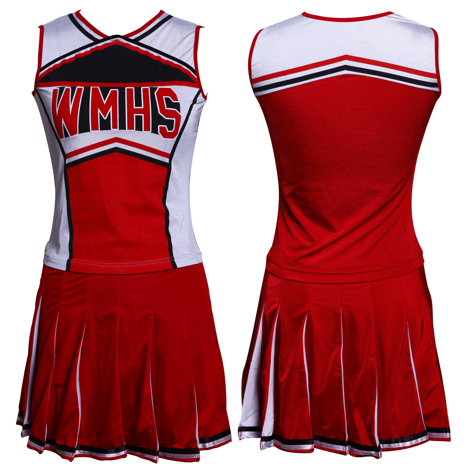 Glee cheerleader clothes skirt high school cheerleading costumes 6 8 item specifics solutioingenieria Images