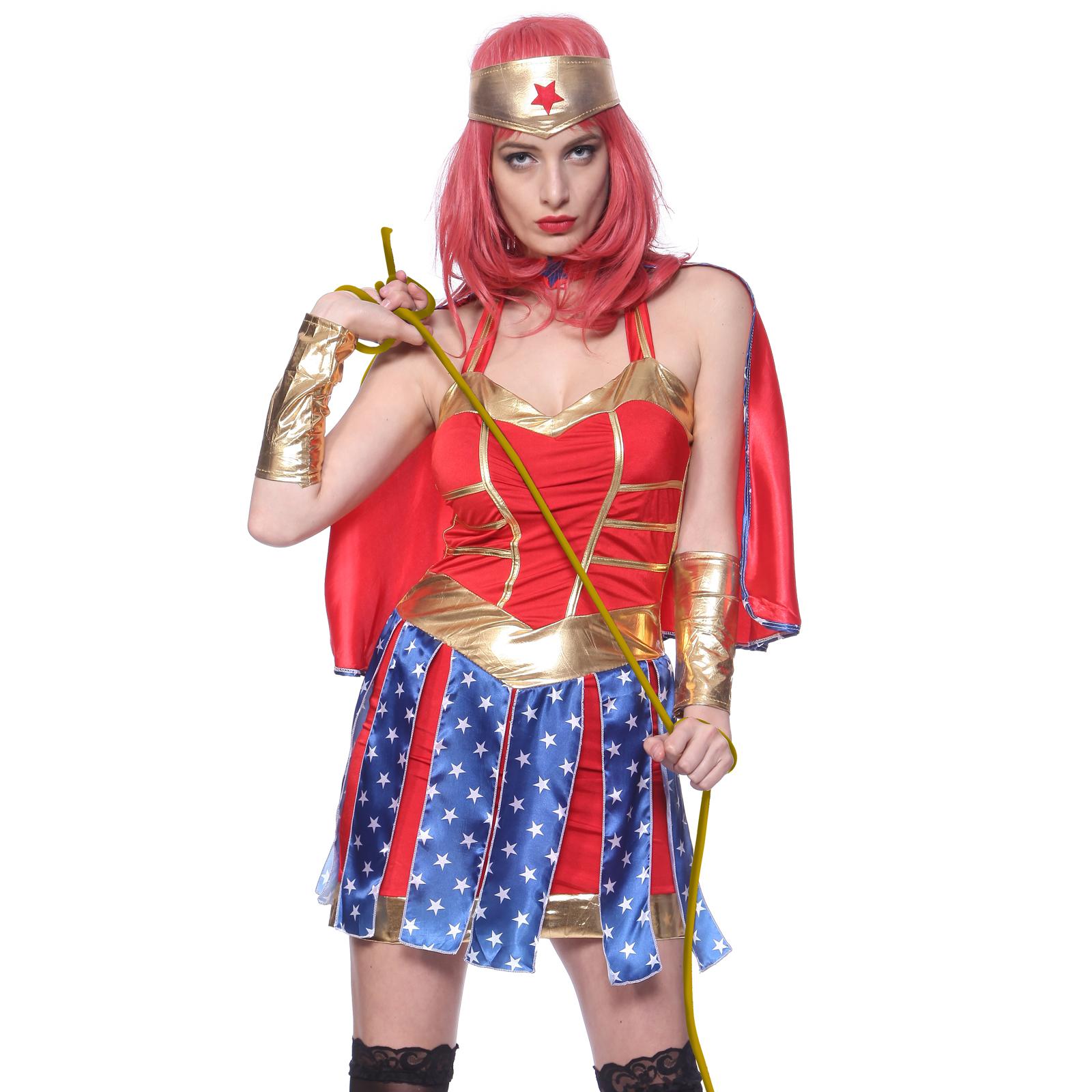 cotume deguisement wonder woman heroine superhero femme. Black Bedroom Furniture Sets. Home Design Ideas