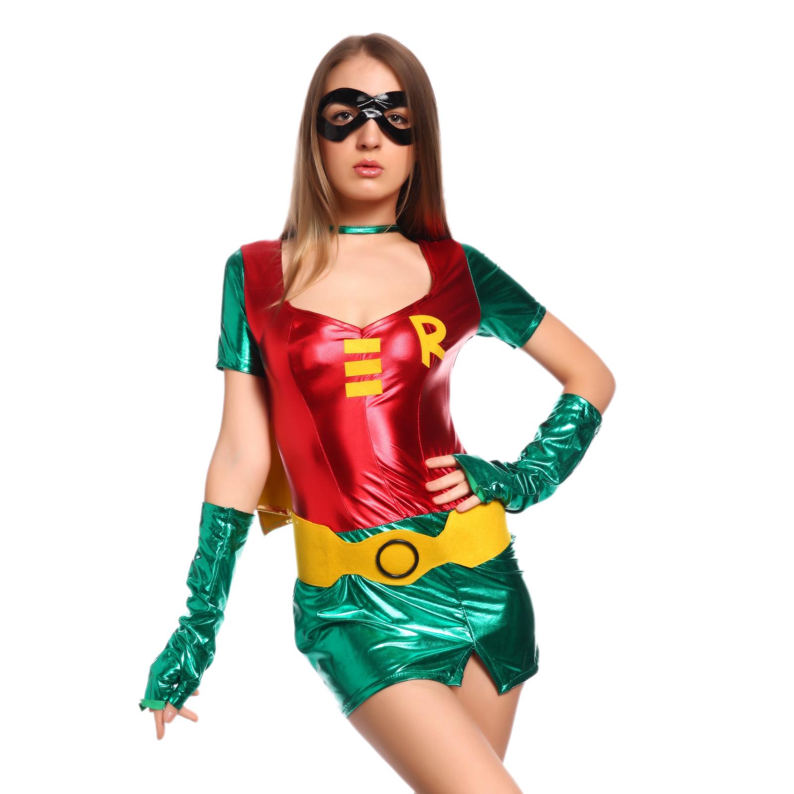 bf601a68c7e 6 Heroine Superhero Supergirl Wonder Woman Bat Girl Fancy Dress ...