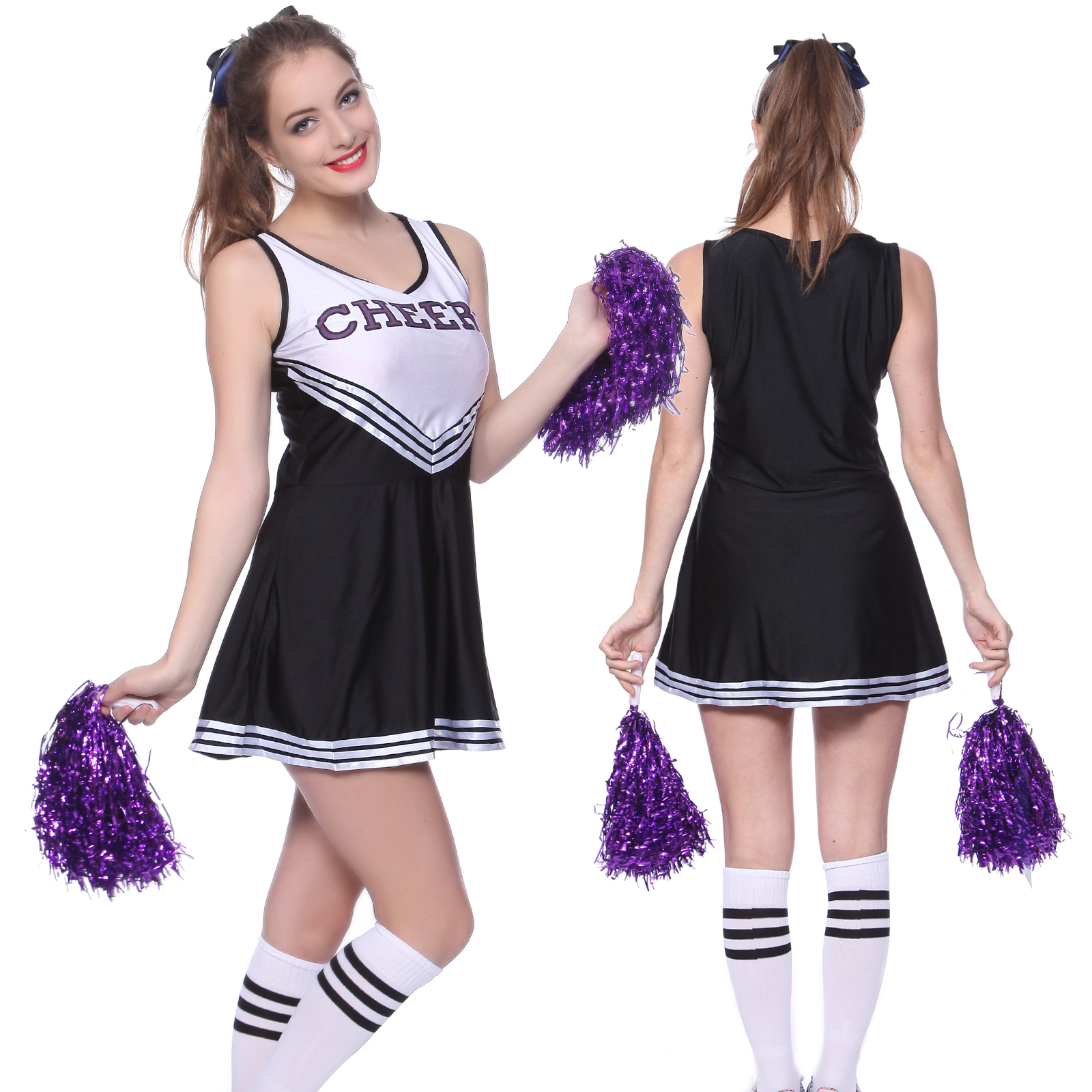 c7584e02 High School Musical Cheer Girl Cheerleader Uniform Costume Outfit w ...