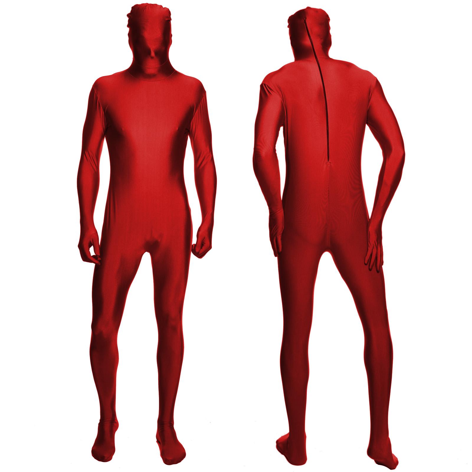 Unisex Adult Kid Second Skin Full Bodysuit Jumpsuit Fancy Dress Cosplay Lycra UK