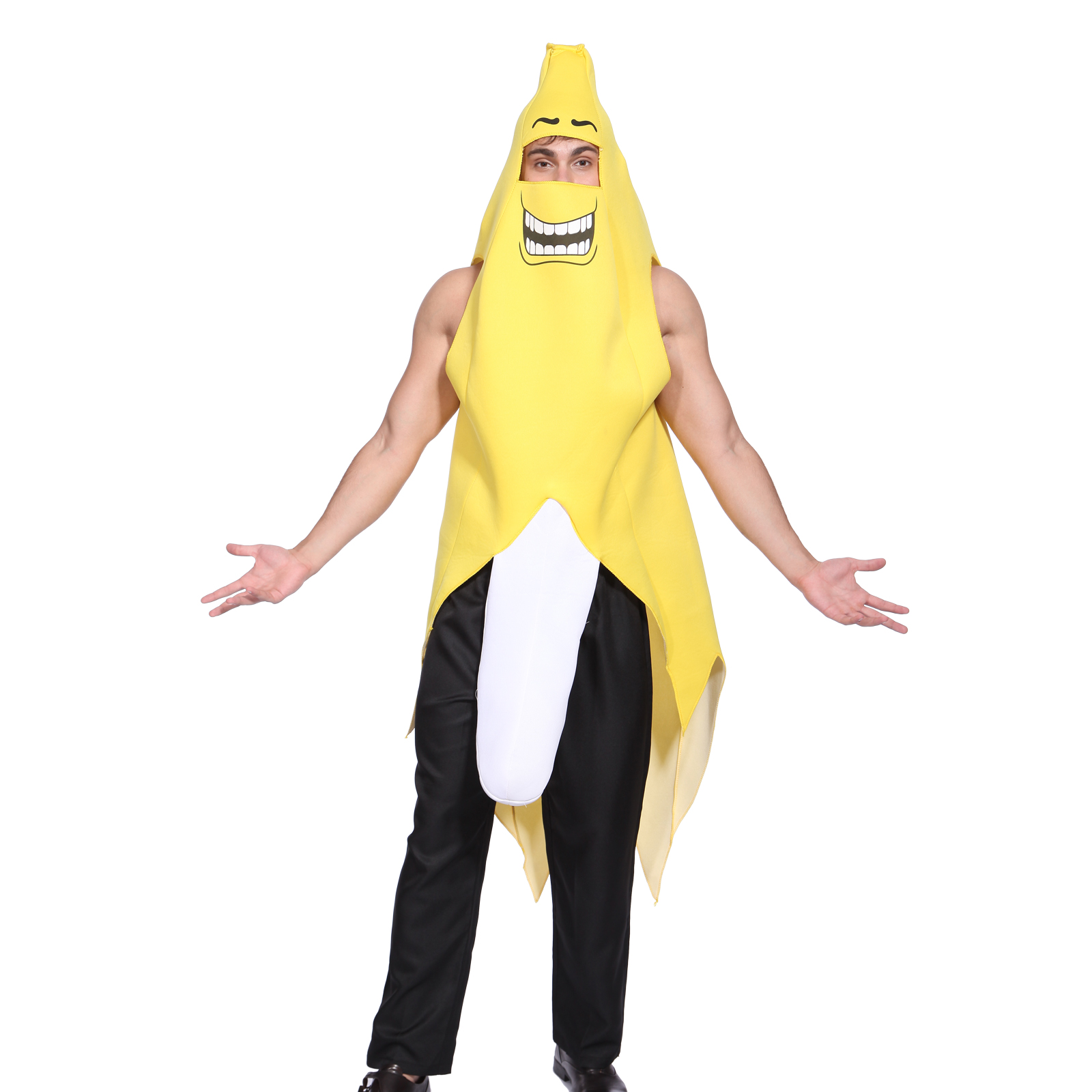 2 Type Adult Banana Costume Carnival Stag Hen Do Cosplay Party Funny Fancy Dress | eBay  sc 1 st  eBay & 2 Type Adult Banana Costume Carnival Stag Hen Do Cosplay Party Funny ...