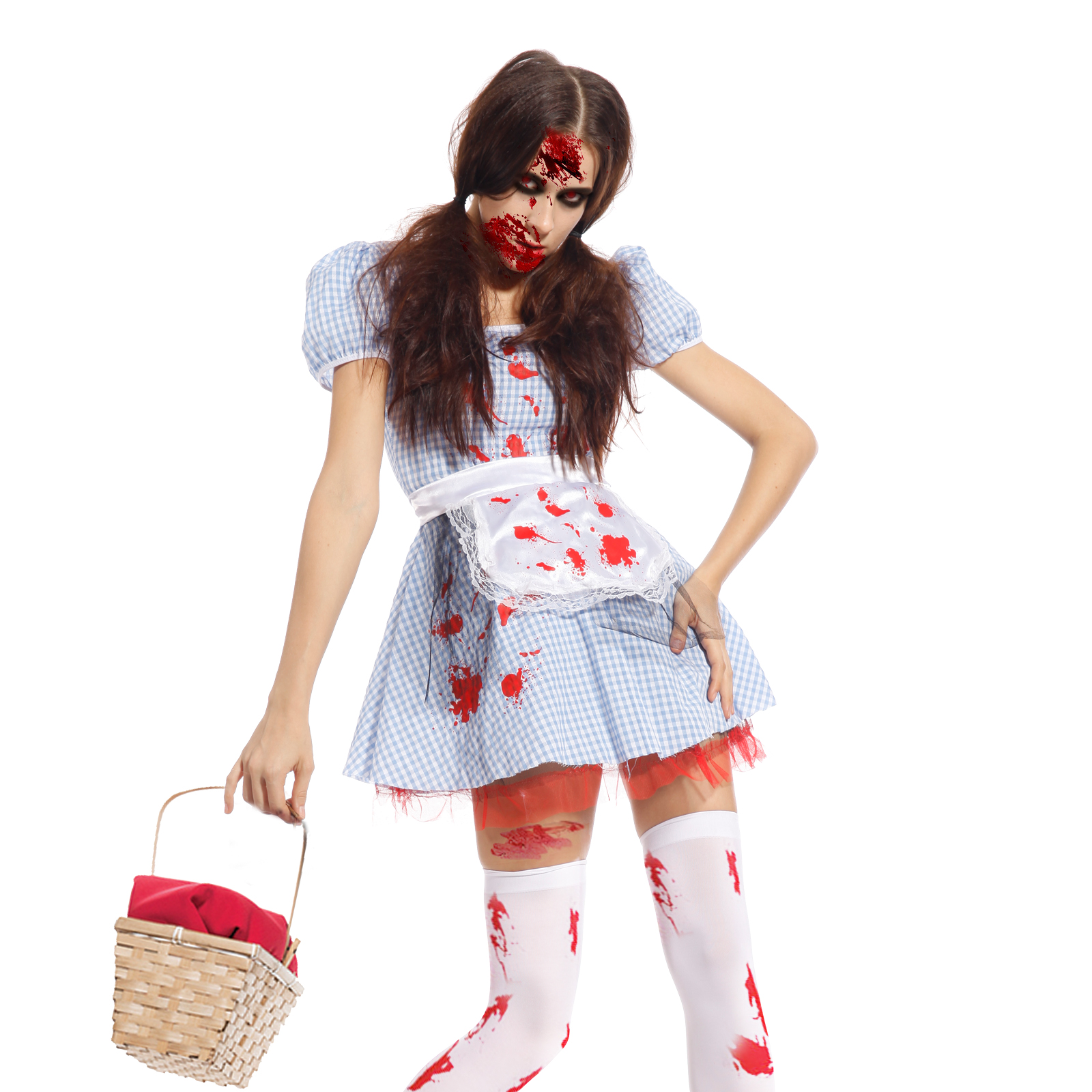 Ladies-Dorothy-Broken-Doll-Costume-Cosplay-Carnival-Halloween-Party-Fancy-Dress
