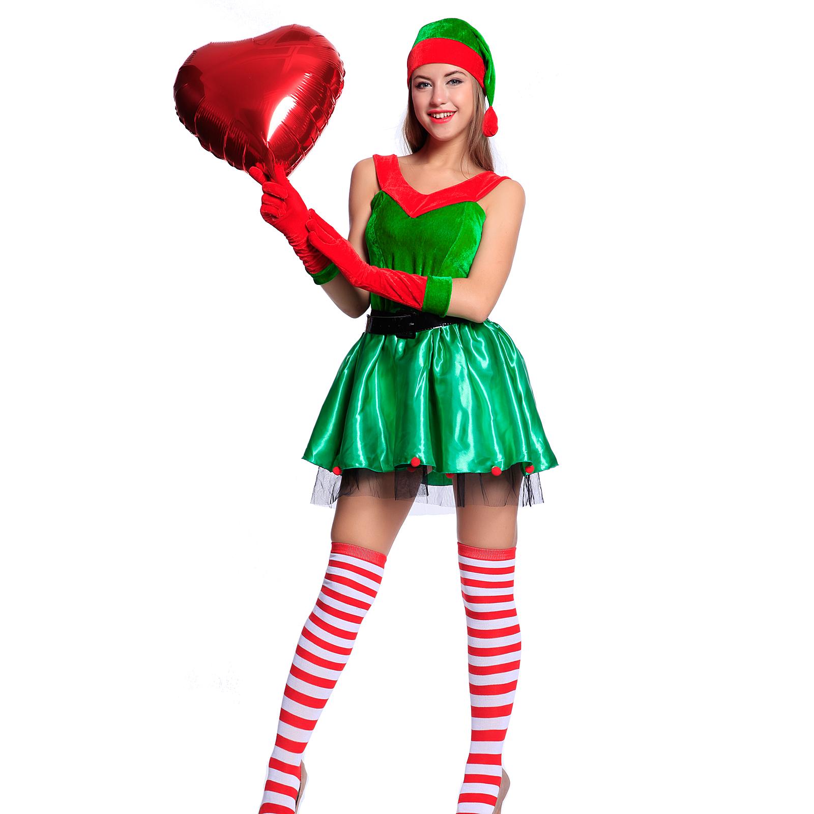 weihnachten kost m nikolaus damen weihnachtsfrau miss. Black Bedroom Furniture Sets. Home Design Ideas