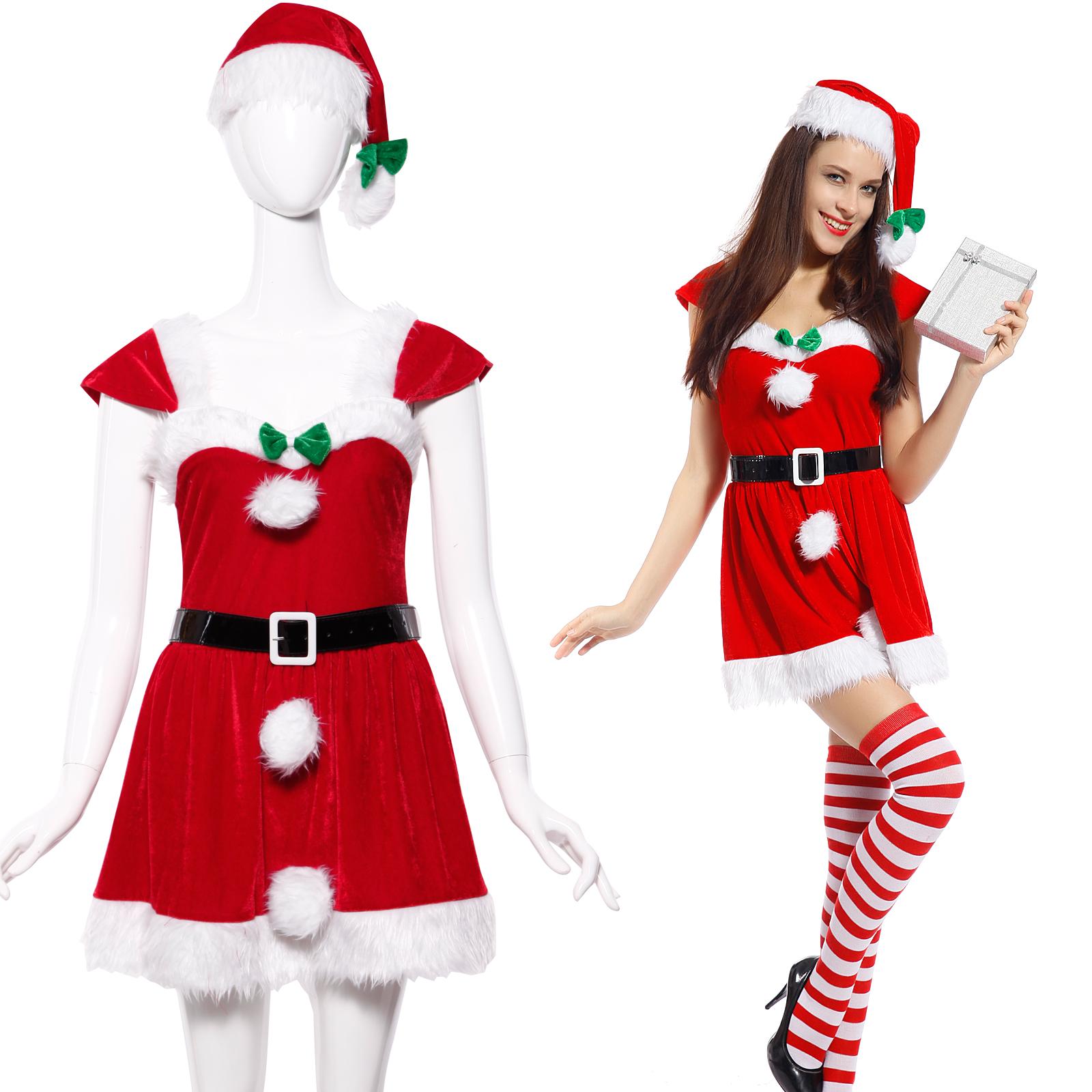Weihnachtskostüm Weihnachtsmann Elf Santa Nikolaus Weihnachten ...