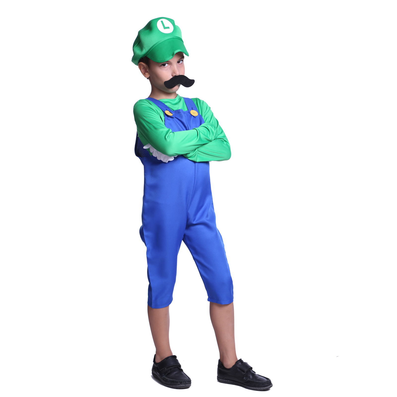 super mario luigi klempner kost m f r damen herren kinder halloween fasching ebay. Black Bedroom Furniture Sets. Home Design Ideas