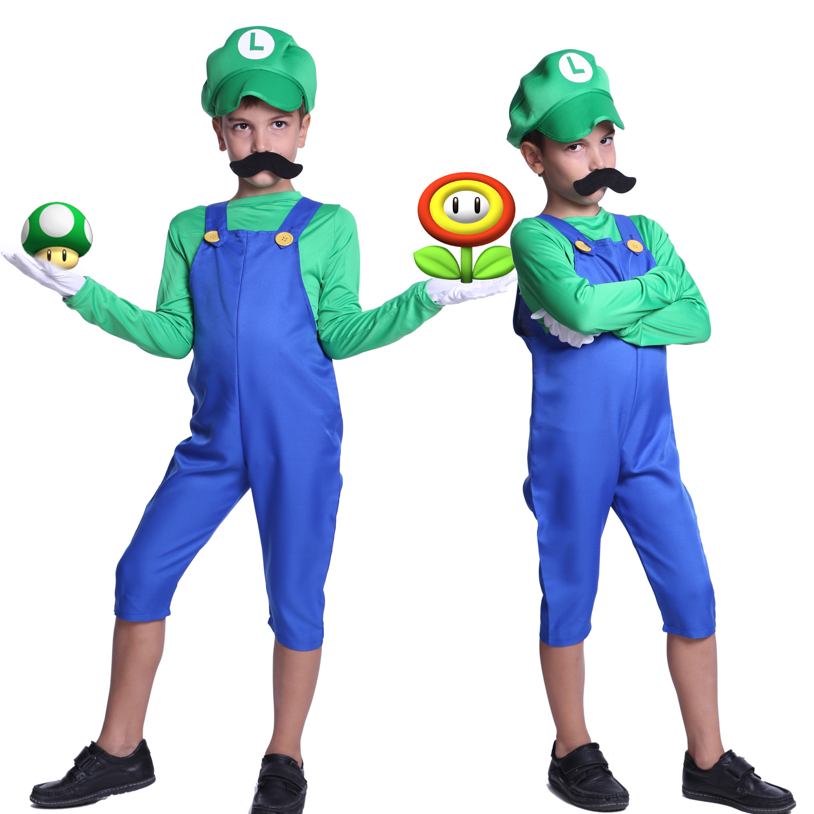 New-Kids-Super-Mario-Costume-Teen-Boys-Clothes-  sc 1 st  eBay & New Kids Super Mario Costume Teen Boys Clothes Fancy Dress Party ...