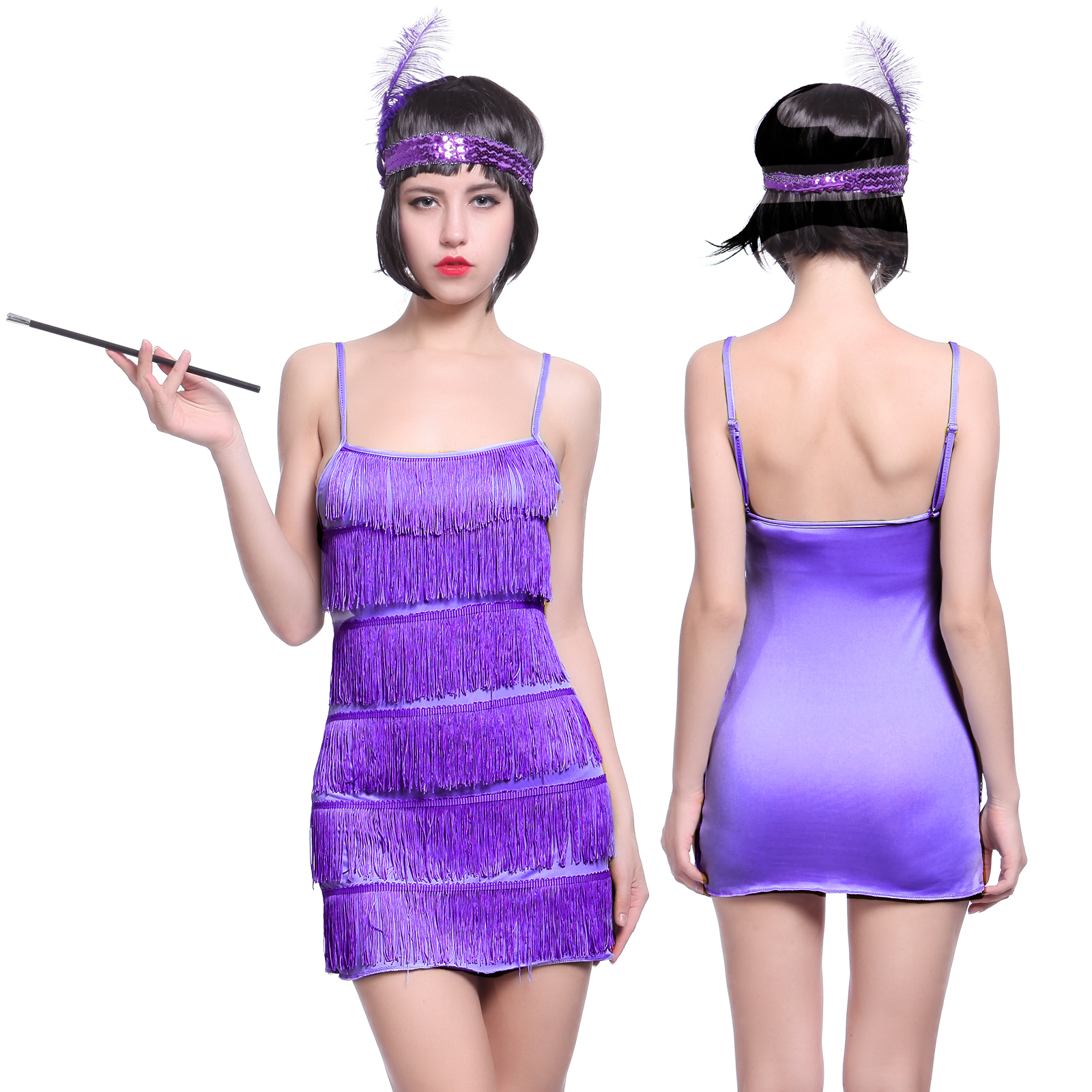 Elegante 20er Jahre Fransen Flapper-Kleid Charleston Kleid Kostüm ...