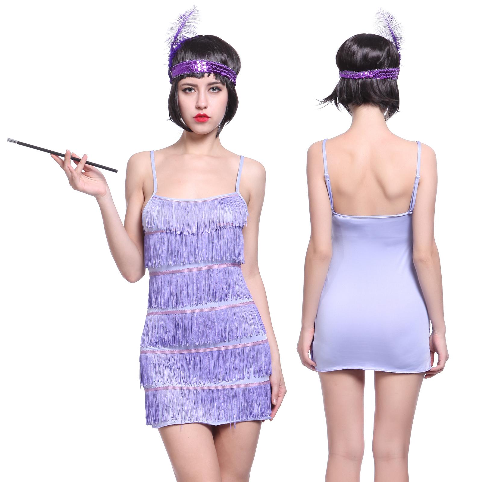 1920 20er Jahre Charleston Kostüm Kleid Flapper Kleid Fransen-Kleid ...