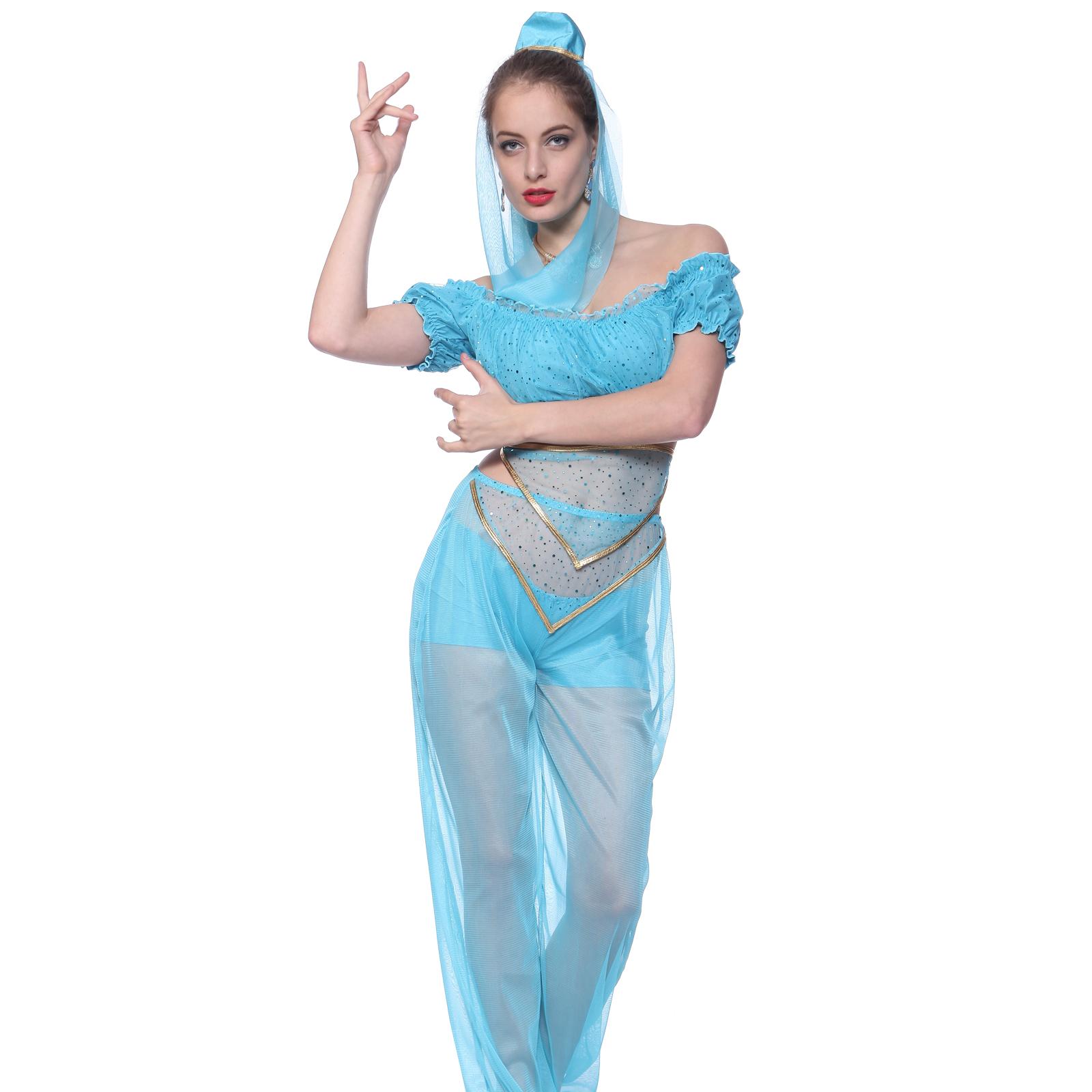 Ladies princess jasmine fancy dress women blue belly dancer arabian item specifics solutioingenieria Gallery