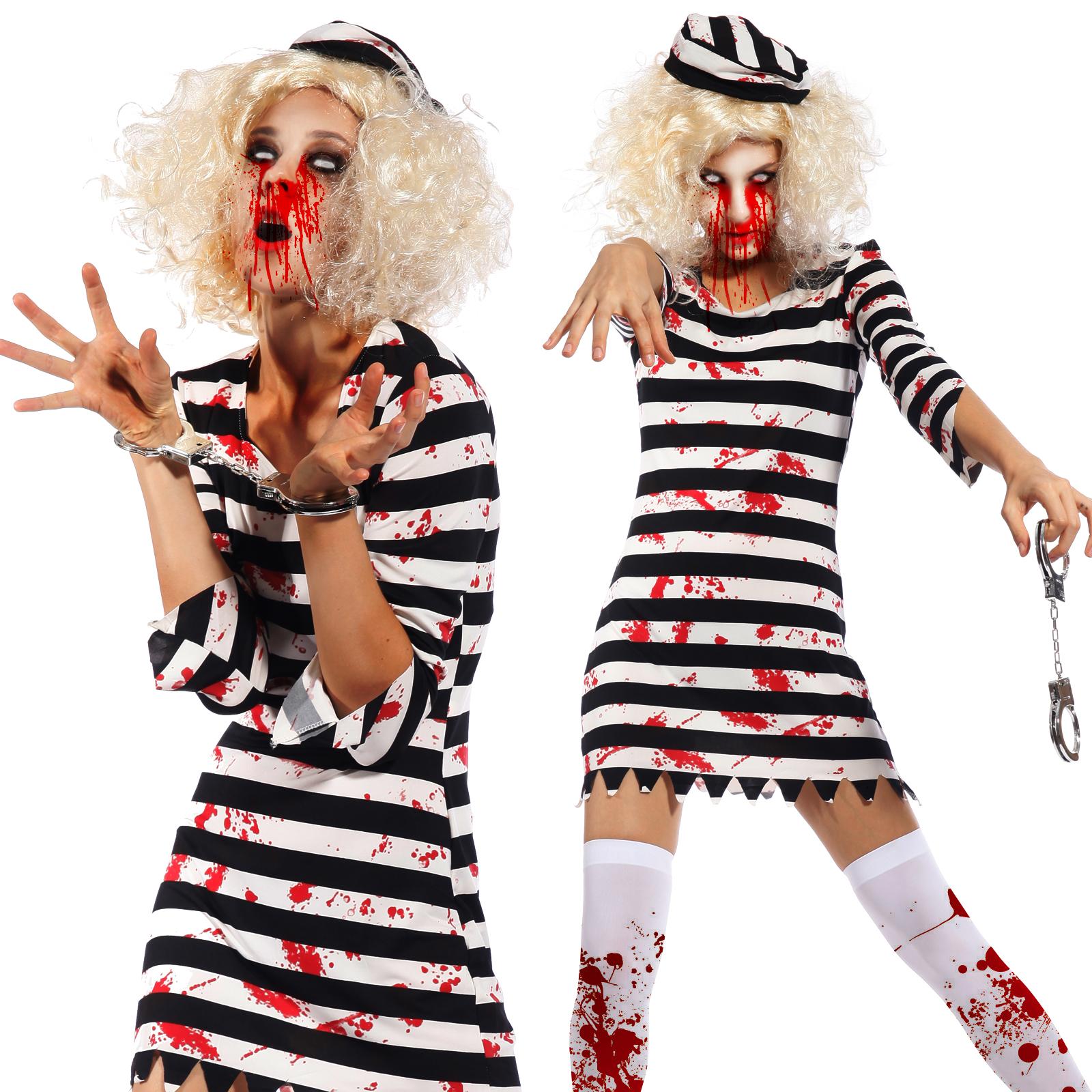 Scary Ladies Bloody Zombie Costume Walking Dead Cosplay Halloween ...