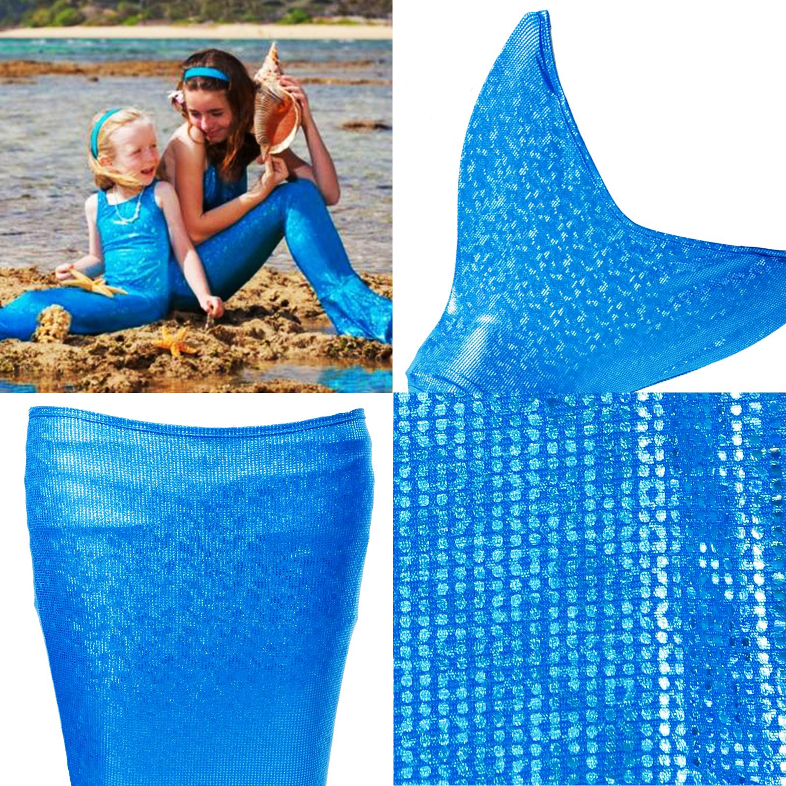 Ragazze bambine coda di sirena costume da bagno anni 8 10 11 13 ebay - Cartamodello costume da bagno ...