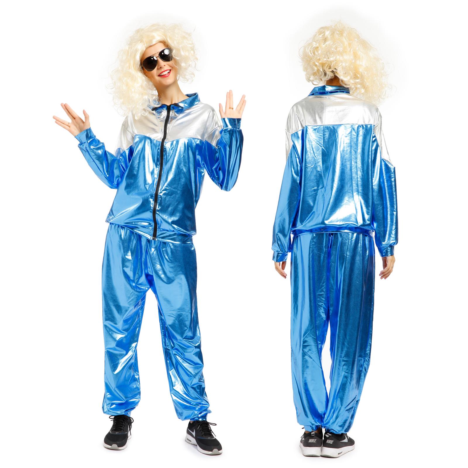 Survetement complet deguisement wetlook biton retro 80s hip hop sport breakdance ebay - Annee 80 tenue ...