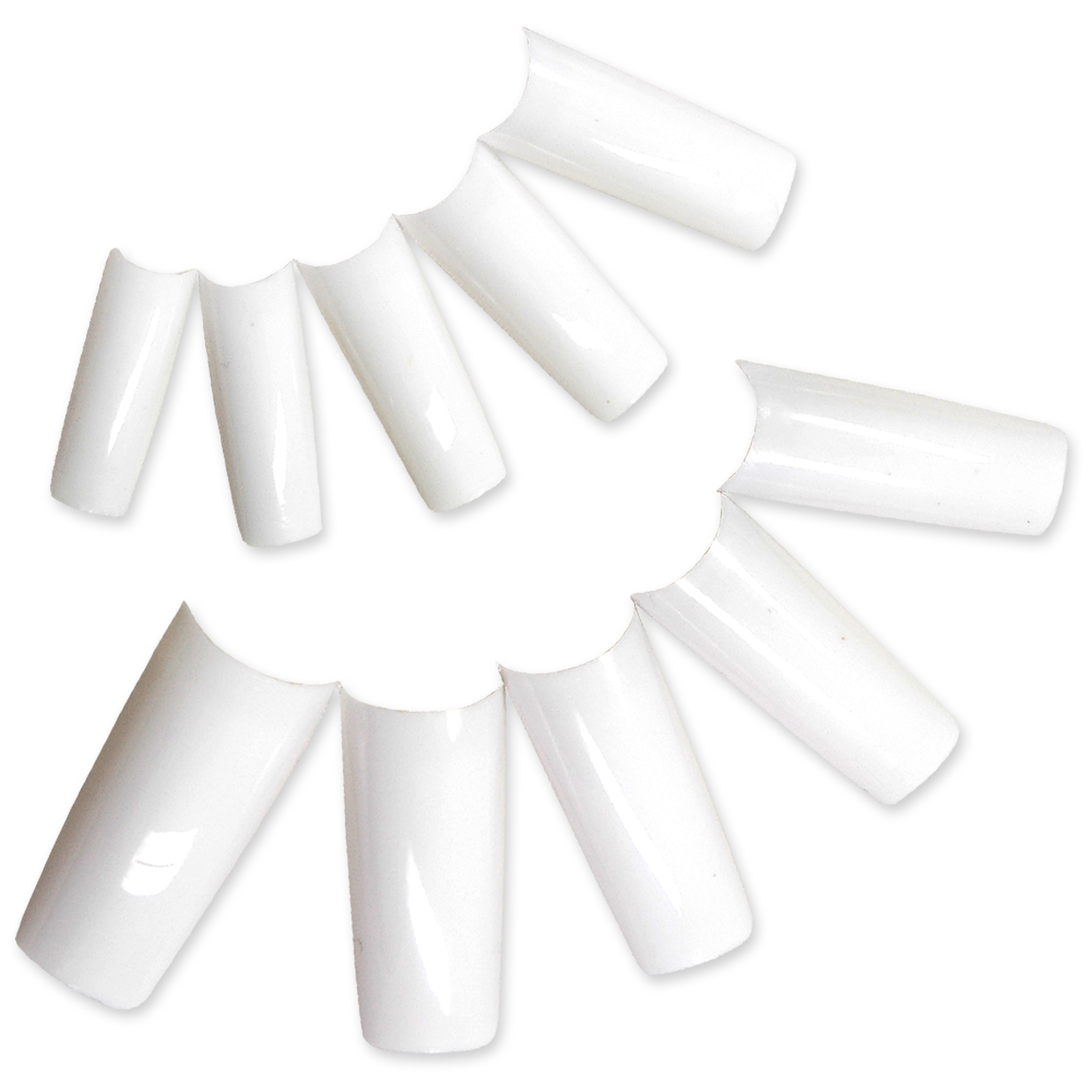 500st k nstliche fingern gel weiss nail tips im box french nagel set ebay. Black Bedroom Furniture Sets. Home Design Ideas