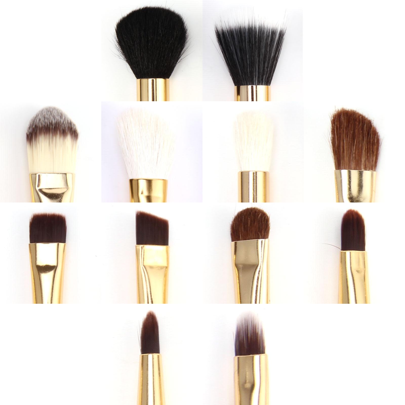 12tlg golden echthaare pinsel makeup set golden pinselset. Black Bedroom Furniture Sets. Home Design Ideas