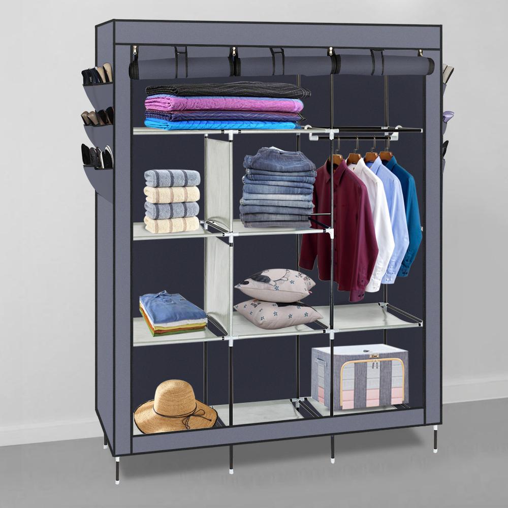 "69"" High-leg Non-woven Fabric Assembled Cloth Wardrobe ..."