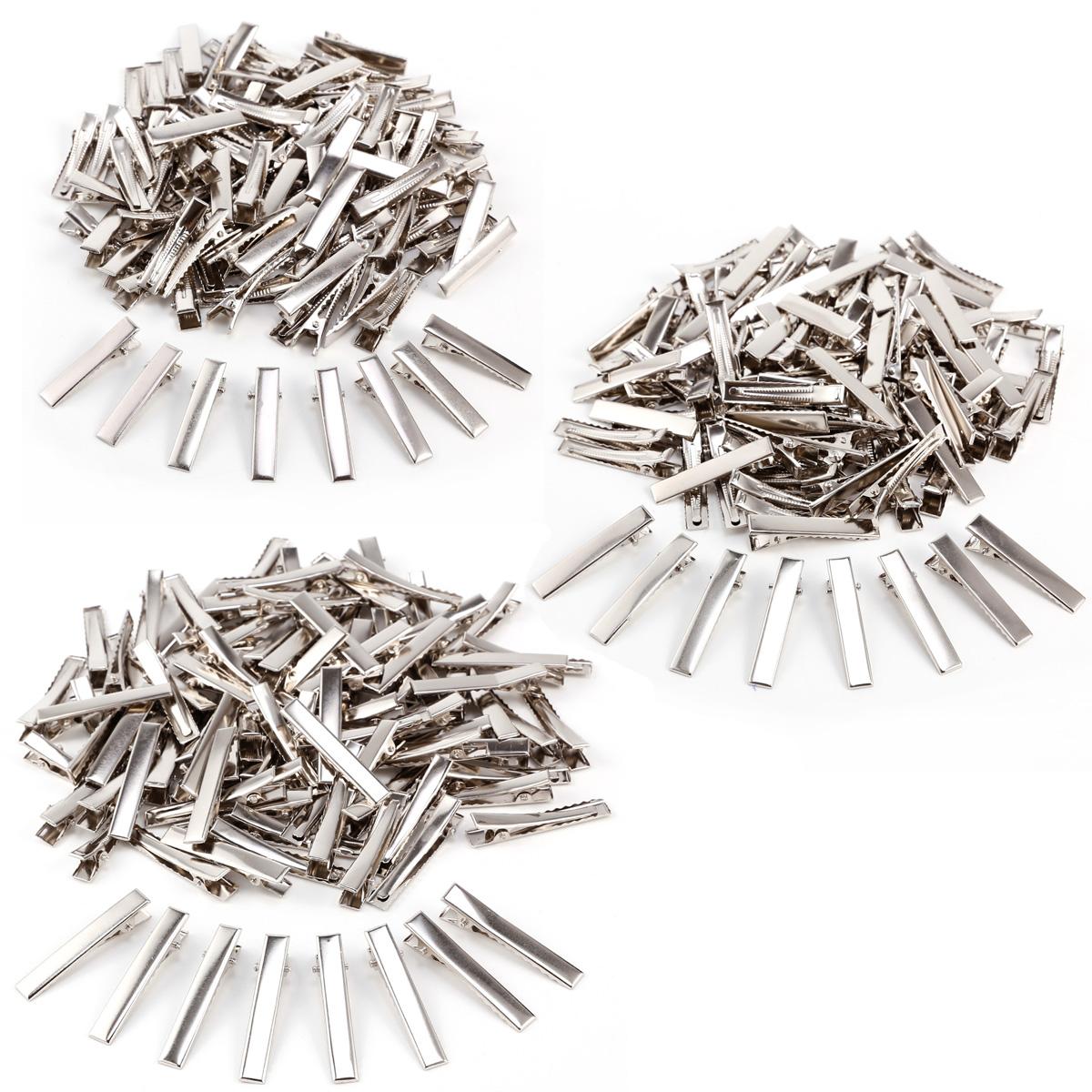 50 Alligator Haarspangen Haarklammer Haarclip Metall Ca