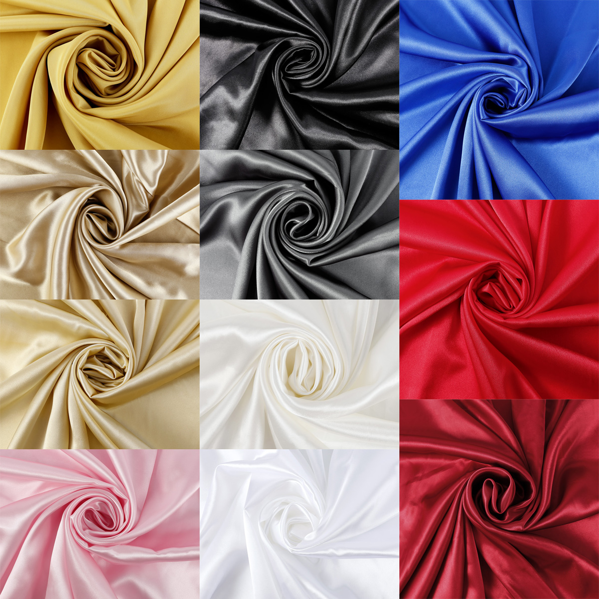 Silky Satin Fabric Per Metre Plain Dress Craft Material 150cm Wide 11 Colours Ebay