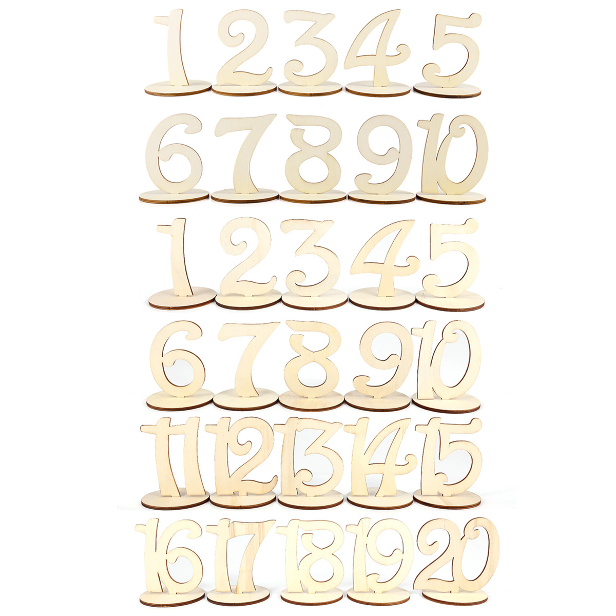 20pcs Cake Name Number Table Place Card Holder Stand For Wedding Party Birthday Venue Decoration Event & Party Home & Garden