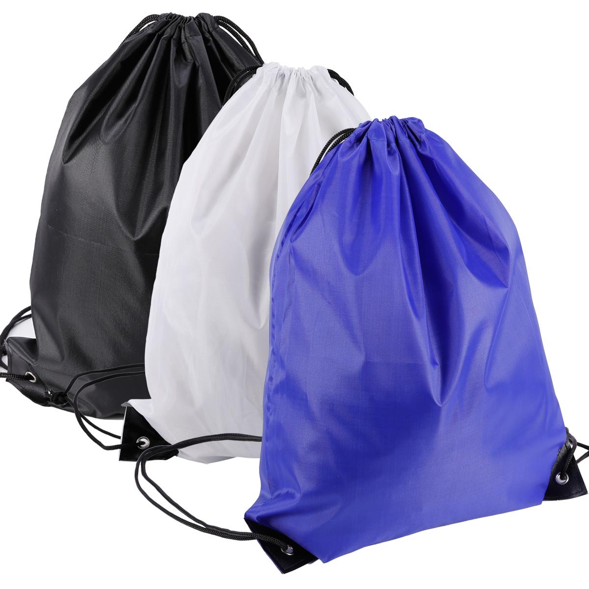 Cinch Sack Canvas Storage School Gym Drawstring Bag Pack Rucksack Backpack Pouch Men's Bags Backpacks