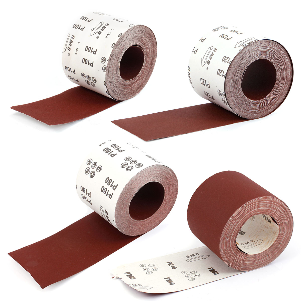 25m Schleifpapier 93mmX25m Korn P120 Schleifrollen Rollenschleifpapier KLETT